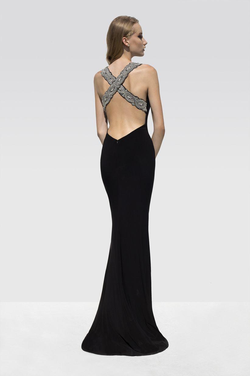 865b9d7d4f 30 vestidos de fiesta  apuesta por el negro y conviértete en la ...