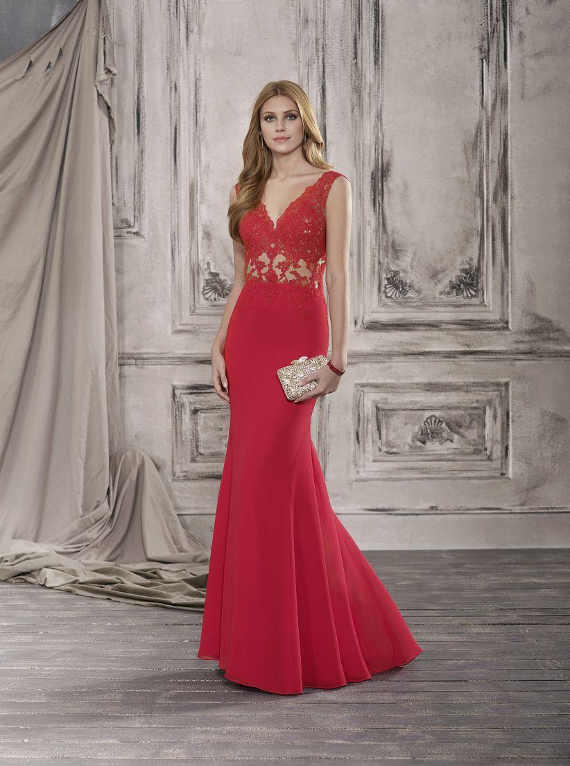 e3efde5ea Vestidos rojos de fiesta  más de 100 looks para impactar
