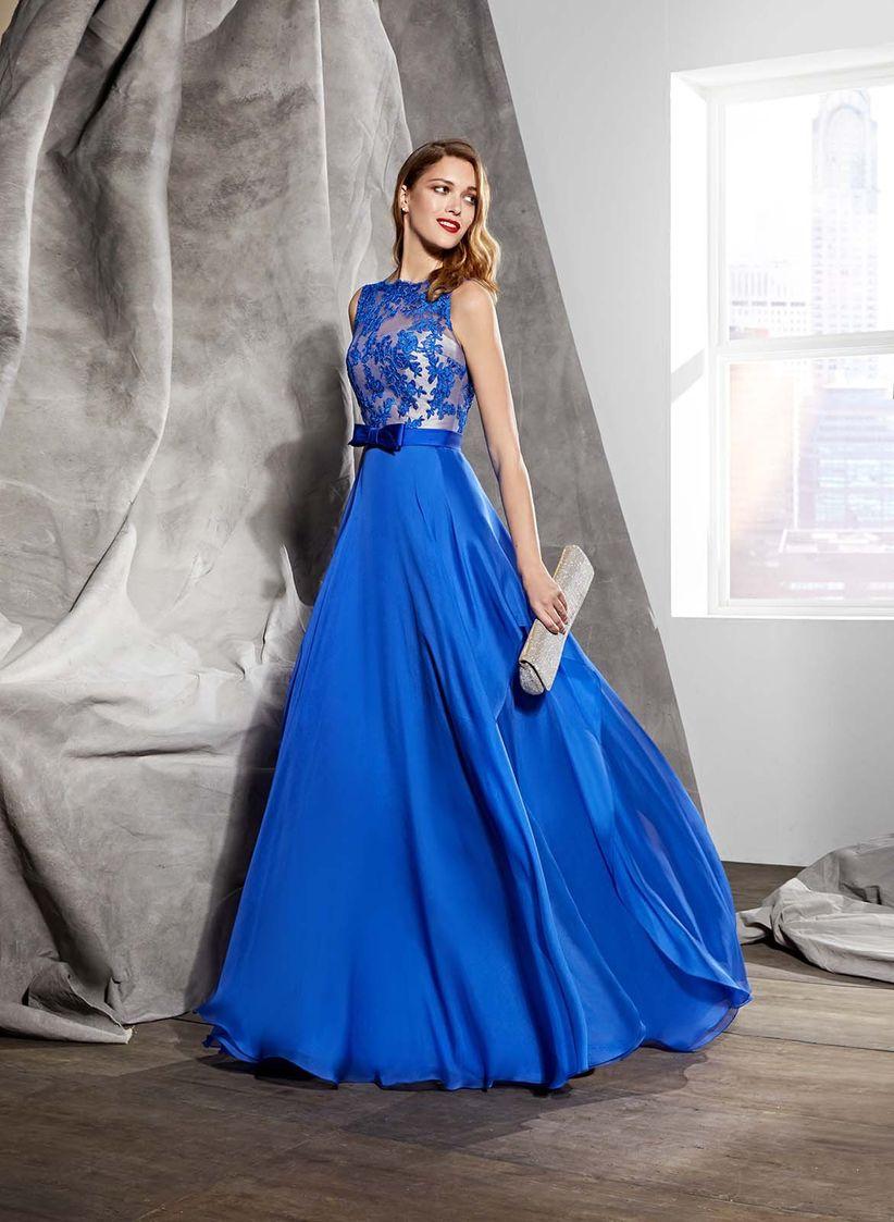zapatos de temperamento diseñador de moda Descubrir Vestido azul electrico para fiesta – Vestidos populares 2019