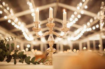 Candelabros para un enlace lleno de romanticismo y magia
