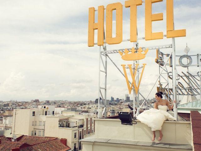La magia de casarse en la azotea de un hotel