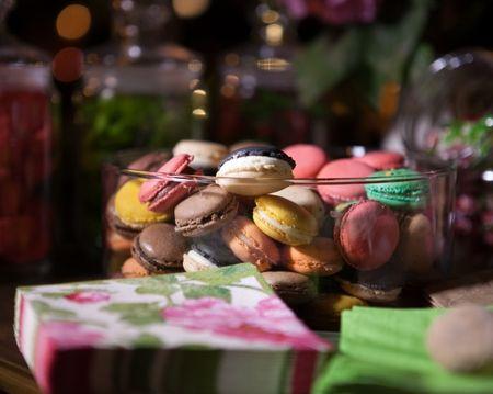 Macarons para el postre de la boda: la exquisitez convertida en dulce