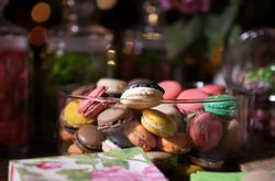 Macarons para el postre de la boda