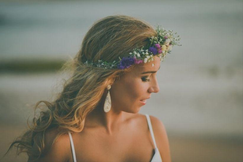 16 Tocados De Novia Con Flores Para Coronar Tu Gran Dia - Tocados-para-semirecogidos