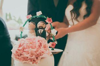 50 fantásticos pasteles de boda decorados con flores