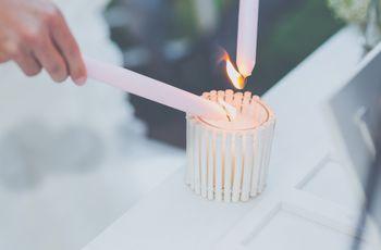Ideas para una boda civil: la ceremonia de las velas
