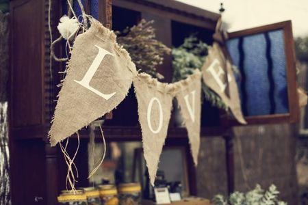 Decora tu boda con tela arpillera
