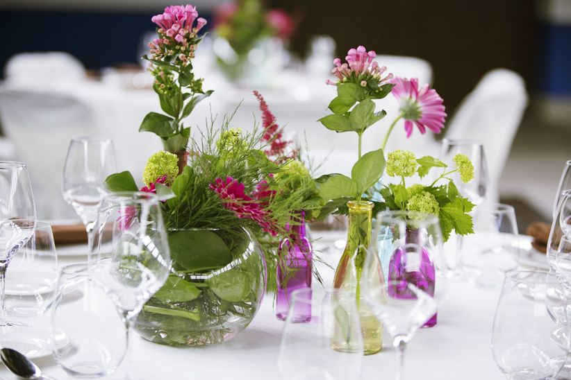 20 fantsticos centros de mesa para bodas en verano