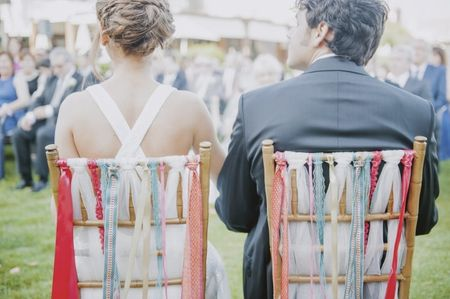 7 ideas para decorar las sillas de la boda