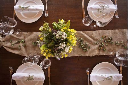 Centros de mesa para una boda r�stica