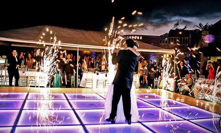 Pistas iluminadas para una fiesta nupcial... ¡brillante!