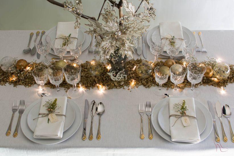 Decoraci n para bodas en navidad - Decoracion mesa de navidad ...