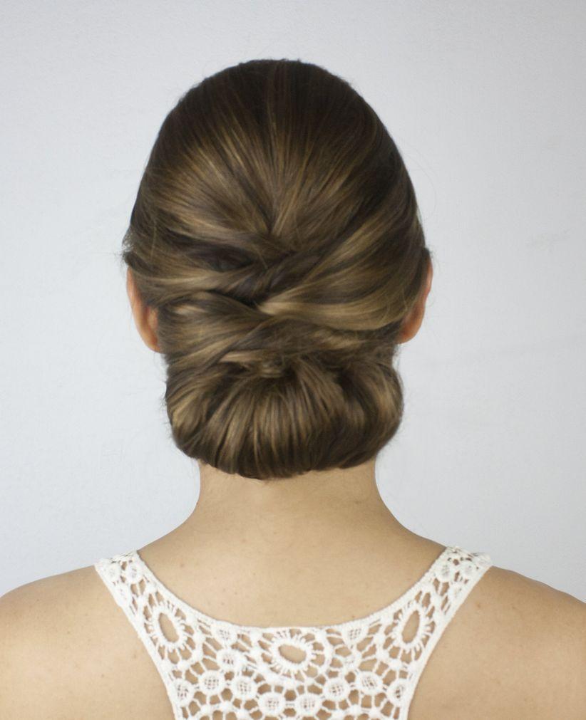 Peinados para novias 50 recogidos bajos espectaculares - Monos bajos novia ...