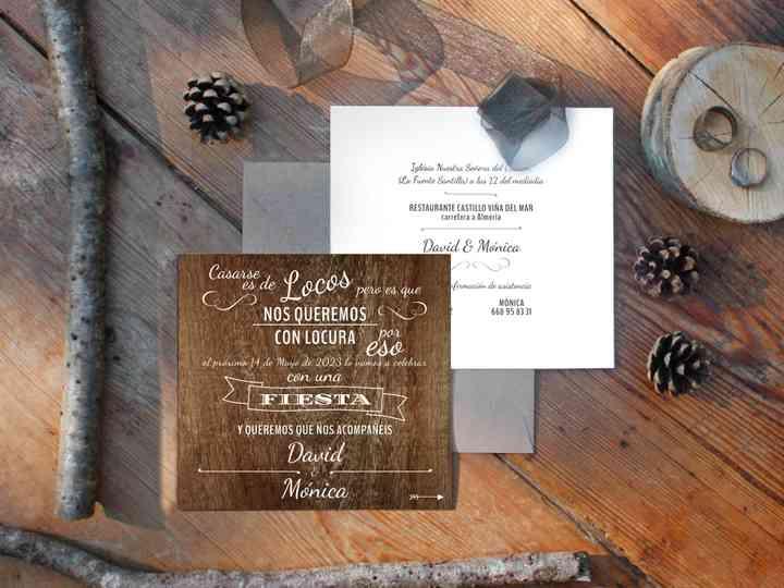 Invitaciones de boda: ¡apostad por el diseño rústico!