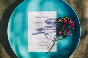 Minutas de boda originales: 8 estilos fantásticos