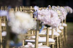 C�mo decorar los asientos de la ceremonia