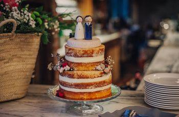 8 materiales para los 'cake toppers' de vuestra tarta nupcial