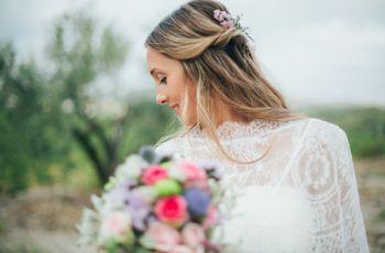 Recogidos medios para novias: 20 peinados con un ápice de sofisticación