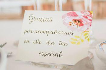 Tarjetas de agradecimiento para tus invitados de boda