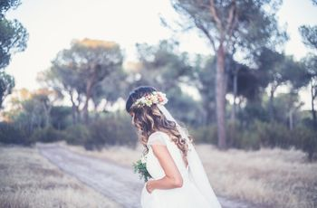 45 peinados con pelo suelto para novias minimal