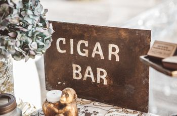 ¿Estás pensando en poner un cigar corner en tu boda?