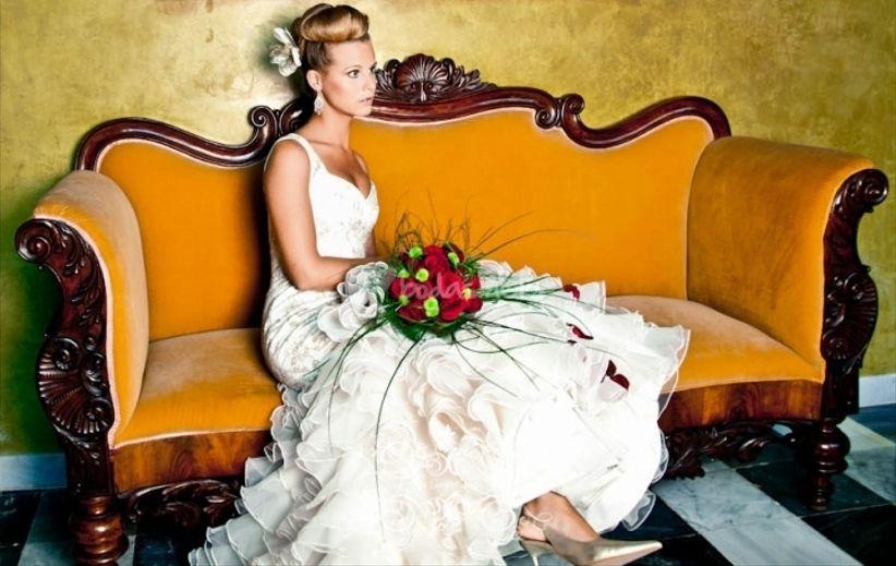 look de novia para una boda flamenca