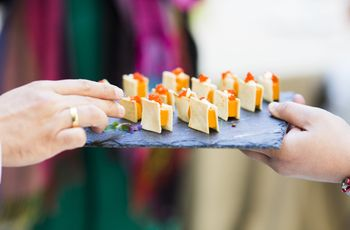 10 aperitivos que nos encanta probar en las bodas