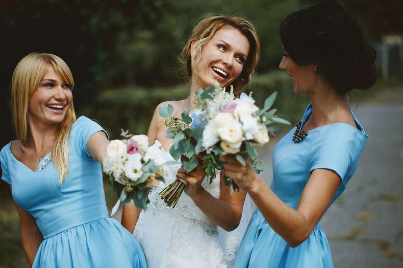 Vestidos para novia y damas de honor