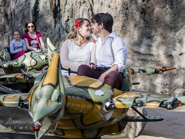 La preboda de Iñigo y Marina en el Parque de Atracciones de Madrid