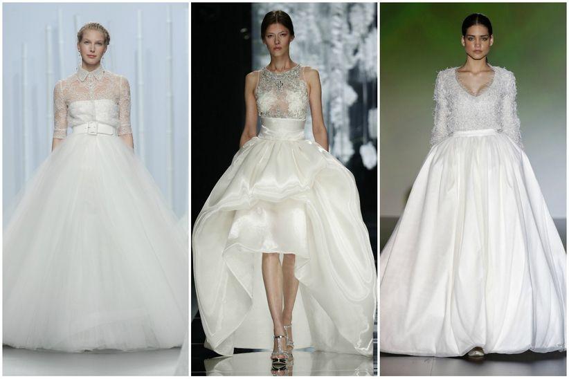 Vestidos novia 2 piezas