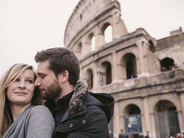 El preboda en Roma de Sara y Brando