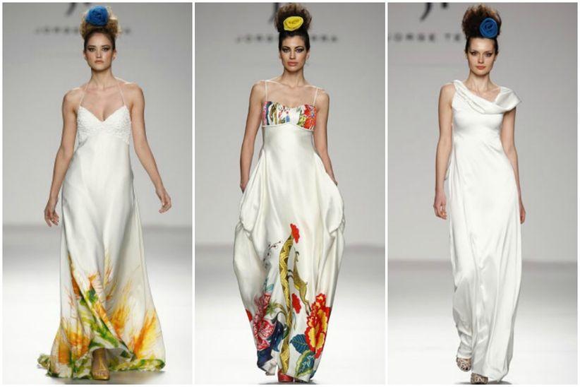 e9cbc92c3 El color y los nuevos tejidos son elementos clave en la nueva colección para  novias de Jorge Terra