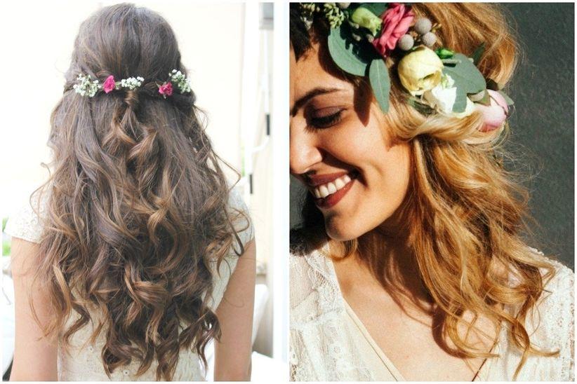 32 peinados para lucir perfecta en tu boda - Peinados de boda semirecogidos ...