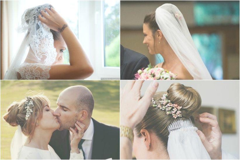 f8e4c26155 Peinados con velo para novias de todos los estilos