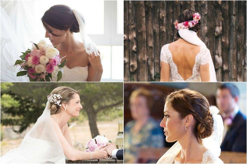 Peinados con velo para novias de todos los estilos for Recogido mono bajo