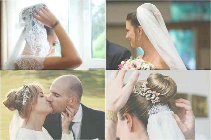 Recogidos para novias con velo