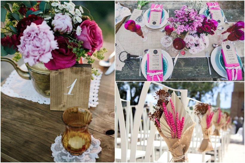 Flores El Elemento Ideal Para Tu Pastel De Bodas: 16 Claves Para Una Fantástica Boda Con Color