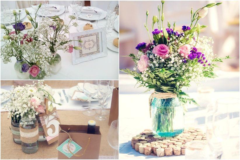 14 centros de mesa para boda con flores - Mesa centro de cristal ...