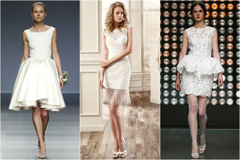 Vestidos de novia cortos segundas nupcias