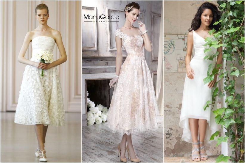 Vestido novia boda civil segundas nupcias