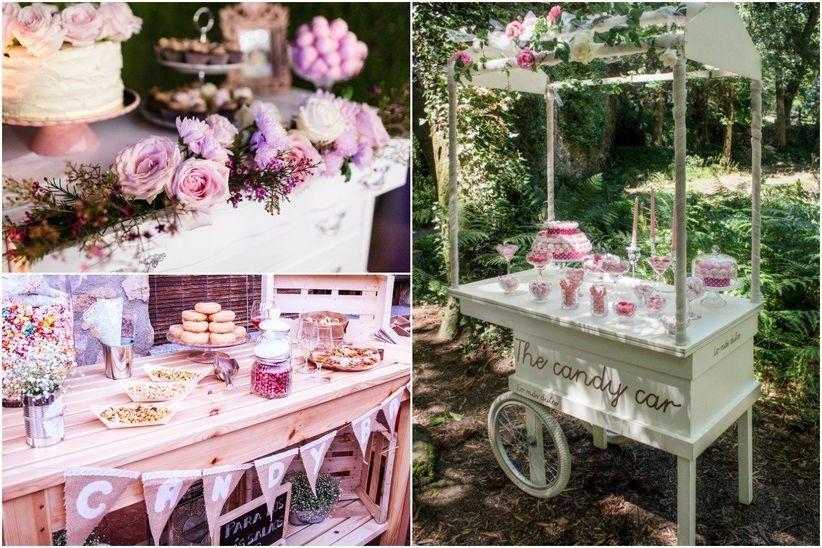 6 pasos b sicos para decorar la mesa de dulces de la boda - Mesa de dulces para bodas ...