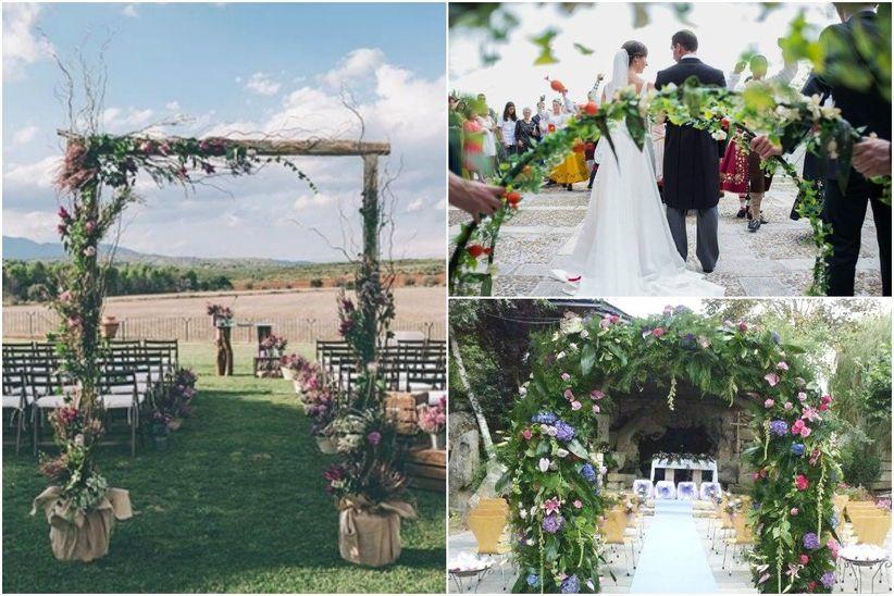 Arcos de flores para la decoraci n de la boda - Decoracion floral para bodas ...