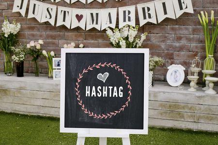 Encuentra el hashtag de tu boda