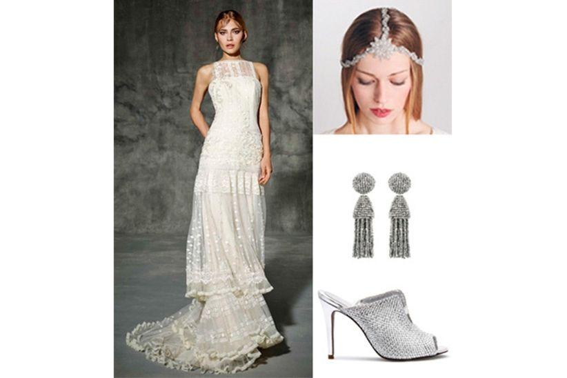 So 0s9ar con vestido de novia