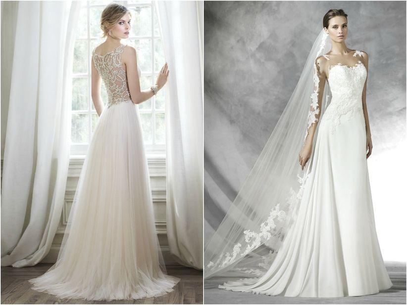 tipos de cola para el vestido de novia