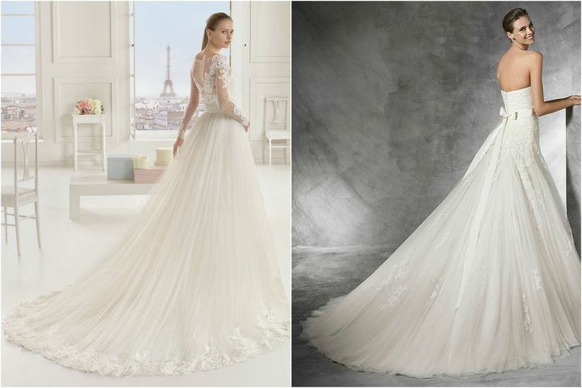 01ea00347 Tipos de colas de los vestidos de novia
