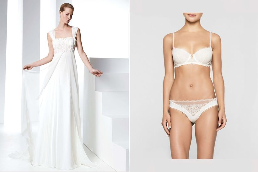 b003e5dd919b0 Qué lencería debes escoger según el corte de tu vestido de novia
