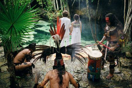 Boda simb�lica por el rito maya