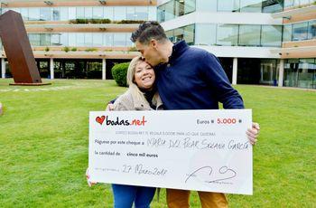 5000 euros para una boda única: Mª del Pilar y Javier ganan el 52º sorteo de Bodas.net