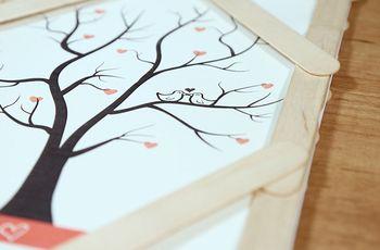 ¡Haz tu propio árbol de huellas para la boda!